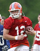 photo by Tim Casey<br /> <br /> John Brantley works out during the Gators' second day of spring football practice on Friday, March 27, 2009 at the Sanders football practice fields in Gainesville, Fla.