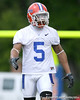 photo by Tim Casey<br /> <br /> Joe Haden talks with Carl Moore during the Gators' second day of spring football practice on Friday, March 27, 2009 at the Sanders football practice fields in Gainesville, Fla.