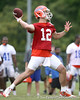 photo by Tim Casey<br /> <br /> John Brantley passes during the Gators' second day of spring football practice on Friday, March 27, 2009 at the Sanders football practice fields in Gainesville, Fla.