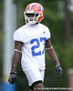 photo by Tim Casey<br /> <br /> Adrian Bushell works out during the Gators' second day of spring football practice on Friday, March 27, 2009 at the Sanders football practice fields in Gainesville, Fla.