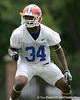 photo by Tim Casey<br /> <br /> Lerentee McCray works out during the Gators' second day of spring football practice on Friday, March 27, 2009 at the Sanders football practice fields in Gainesville, Fla.