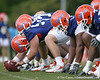 photo by Tim Casey<br /> <br /> John Fairbanks prepares to snap the ball during the Gators' second day of spring football practice on Friday, March 27, 2009 at the Sanders football practice fields in Gainesville, Fla.