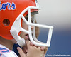 photo by Tim Casey<br /> <br /> A Florida fan watches during the Gators' second day of spring football practice on Friday, March 27, 2009 at the Sanders football practice fields in Gainesville, Fla.
