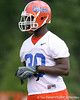 photo by Tim Casey<br /> <br /> John Jones works out during the Gators' second day of spring football practice on Friday, March 27, 2009 at the Sanders football practice fields in Gainesville, Fla.