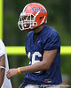 photo by Tim Casey<br /> <br /> Florida senior wide receiver Carl Moore works out during the Gators' second day of spring football practice on Friday, March 27, 2009 at the Sanders football practice fields in Gainesville, Fla.