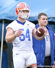 photo by Tim Casey<br /> <br /> Brenden Beal looks on during the Gators' second day of spring football practice on Friday, March 27, 2009 at the Sanders football practice fields in Gainesville, Fla.