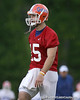 photo by Tim Casey<br /> <br /> Tim Tebow works out during the Gators' second day of spring football practice on Friday, March 27, 2009 at the Sanders football practice fields in Gainesville, Fla.