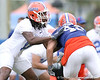 photo by Tim Casey<br /> <br /> Will Hill works out the Gators' second day of spring football practice on Friday, March 27, 2009 at the Sanders football practice fields in Gainesville, Fla.