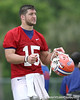 photo by Tim Casey<br /> <br /> Tim Tebow looks on during the Gators' second day of spring football practice on Friday, March 27, 2009 at the Sanders football practice fields in Gainesville, Fla.