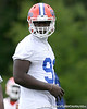 photo by Tim Casey<br /> <br /> Earl Okine works out during the Gators' second day of spring football practice on Friday, March 27, 2009 at the Sanders football practice fields in Gainesville, Fla.