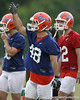 photo by Tim Casey<br /> <br /> Rick Burgess works out during the Gators' second day of spring football practice on Friday, March 27, 2009 at the Sanders football practice fields in Gainesville, Fla.