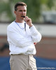photo by Tim Casey<br /> <br /> Urban Meyer works out during the Gators' first day of spring football practice on Wednesday, March 25, 2009 at the Sanders football practice fields in Gainesville, Fla.