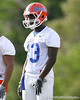 photo by Tim Casey<br /> <br /> Dee Finley looks on during the Gators' first day of spring football practice on Wednesday, March 25, 2009 at the Sanders football practice fields in Gainesville, Fla.