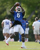 photo by Tim Casey<br /> <br /> Deonte Thompson makes a catch  during the Gators' first day of spring football practice on Wednesday, March 25, 2009 at the Sanders football practice fields in Gainesville, Fla.