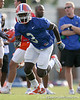 photo by Tim Casey<br /> <br /> Chris Rainey runs a pass route during the Gators' first day of spring football practice on Wednesday, March 25, 2009 at the Sanders football practice fields in Gainesville, Fla.