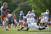 photo by Tim Casey<br /> <br /> Will Hill blocks a punt during the Gators' first day of spring football practice on Wednesday, March 25, 2009 at the Sanders football practice fields in Gainesville, Fla.