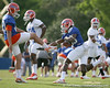 photo by Tim Casey<br /> <br /> Frankie Hammond, Jr. works out during the Gators' first day of spring football practice on Wednesday, March 25, 2009 at the Sanders football practice fields in Gainesville, Fla.