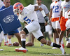 photo by Tim Casey<br /> <br /> Joe Haden works out during the Gators' first day of spring football practice on Wednesday, March 25, 2009 at the Sanders football practice fields in Gainesville, Fla.