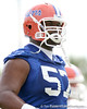 photo by Tim Casey<br /> <br /> Carl Johnson warms up during the Gators' first day of spring football practice on Wednesday, March 25, 2009 at the Sanders football practice fields in Gainesville, Fla.