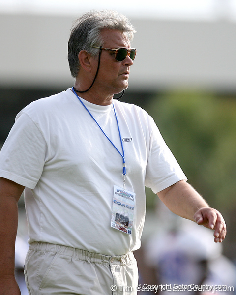 photo by Tim Casey<br /> <br /> during the Gators' first day of spring football practice on Wednesday, March 25, 2009 at the Sanders football practice fields in Gainesville, Fla.