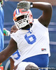 photo by Tim Casey<br /> <br /> Jaye Howard warms up during the Gators' first day of spring football practice on Wednesday, March 25, 2009 at the Sanders football practice fields in Gainesville, Fla.