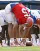 photo by Tim Casey<br /> <br /> Tim Tebow works on during the Gators' first day of spring football practice on Wednesday, March 25, 2009 at the Sanders football practice fields in Gainesville, Fla.