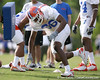 photo by Tim Casey<br /> <br /> William Green works out during the Gators' first day of spring football practice on Wednesday, March 25, 2009 at the Sanders football practice fields in Gainesville, Fla.