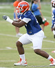 photo by Tim Casey<br /> <br /> David Young works out during the Gators' first day of spring football practice on Wednesday, March 25, 2009 at the Sanders football practice fields in Gainesville, Fla.