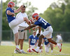 photo by Tim Casey<br /> <br /> T.J. Lawrence works out during the Gators' first day of spring football practice on Wednesday, March 25, 2009 at the Sanders football practice fields in Gainesville, Fla.