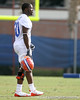 photo by Tim Casey<br /> <br /> Dorian Munroe works out during the Gators' first day of spring football practice on Wednesday, March 25, 2009 at the Sanders football practice fields in Gainesville, Fla.