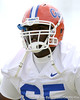 photo by Tim Casey<br /> <br /> Glen Watson warms up during the Gators' first day of spring football practice on Wednesday, March 25, 2009 at the Sanders football practice fields in Gainesville, Fla.
