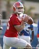 photo by Tim Casey<br /> <br /> Tim Tebow works out during the Gators' first day of spring football practice on Wednesday, March 25, 2009 at the Sanders football practice fields in Gainesville, Fla.