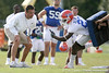 photo by Tim Casey<br /> <br /> Urban Meyer watches Adrian Bushell during the Gators' first day of spring football practice on Wednesday, March 25, 2009 at the Sanders football practice fields in Gainesville, Fla.