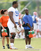 photo by Tim Casey<br /> <br /> Troy Epps works out during the Gators' first day of spring football practice on Wednesday, March 25, 2009 at the Sanders football practice fields in Gainesville, Fla.