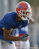 photo by Tim Casey<br /> <br /> David Nelson works out during the Gators' first day of spring football practice on Wednesday, March 25, 2009 at the Sanders football practice fields in Gainesville, Fla.