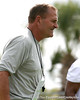 photo by Tim Casey<br /> <br /> Dan McCarney looks on during the Gators' first day of spring football practice on Wednesday, March 25, 2009 at the Sanders football practice fields in Gainesville, Fla.