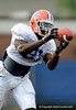 Major Wright tries to secure the ball during positional drills as the University of Florida football team holds their third Spring practice on Saturday, March 28, 2009 in Gainesville, Fla. / Gator Country photo by Staff