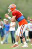 John Brantley prepares to take a snap as the University of Florida football team holds their third Spring practice on Saturday, March 28, 2009 in Gainesville, Fla. / Gator Country photo by Staff