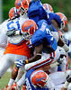 The University of Florida football team holds their third Spring practice on Saturday, March 28, 2009 in Gainesville, Fla. / Gator Country photo by Staff