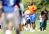 QB/ATH Marcus Smith (Columbus, GA-Hadaway) takes in the action as the University of Florida football team holds their third Spring practice on Saturday, March 28, 2009 in Gainesville, Fla. / Gator Country photo by Staff