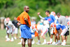 Co-Defensive Coordinator Charlie Strong keeps a close eye on the defense as the University of Florida football team holds their third Spring practice on Saturday, March 28, 2009 in Gainesville, Fla. / Gator Country photo by Staff