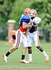 Aaron Hernandez reels in a catch as the University of Florida football team holds their third Spring practice on Saturday, March 28, 2009 in Gainesville, Fla. / Gator Country photo by Staff