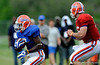 Chris Rainey takes the handoff as The University of Florida football team holds their third Spring practice on Saturday, March 28, 2009 in Gainesville, Fla. / Gator Country photo by Staff