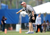 Safeties coach and new defensive co-coordinator Chuck Heater gives instructions The University of Florida football team holds their third Spring practice on Saturday, March 28, 2009 in Gainesville, Fla. / Gator Country photo by Staff