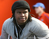 New Port Richey Gulf HS senior lineman Leon Orr watches before the Gators' 37-10 win against Florida State on Saturday, November 28, 2009 at Ben Hill Griffin Stadium in Gainesville, Fla. / Gator Country photo by Tim Casey
