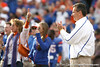 Florida head coach Urban Meyer applauds during the Senior Day ceremony before the Gators' 37-10 win against Florida State on Saturday, November 28, 2009 at Ben Hill Griffin Stadium in Gainesville, Fla. / Gator Country photo by Tim Casey