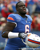 Florida redshirt sophomore defensive tackle Jaye Howard heads to the locker room before the Gators' 37-10 win against Florida State on Saturday, November 28, 2009 at Ben Hill Griffin Stadium in Gainesville, Fla. / Gator Country photo by Tim Casey