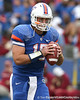 Florida senior quarterback Tim Tebow warms up before the Gators' 37-10 win against Florida State on Saturday, November 28, 2009 at Ben Hill Griffin Stadium in Gainesville, Fla. / Gator Country photo by Tim Casey