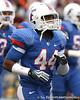 Florida redshirt sophomore Ean McQuay heads to the locker room  before the Gators' 37-10 win against Florida State on Saturday, November 28, 2009 at Ben Hill Griffin Stadium in Gainesville, Fla. / Gator Country photo by Tim Casey