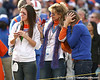Nicki, Shelley and Gigi Meyer get emotional as Tim Tebow is announced during the Senior Day ceremony before the Gators' 37-10 win against Florida State on Saturday, November 28, 2009 at Ben Hill Griffin Stadium in Gainesville, Fla. / Gator Country photo by Tim Casey
